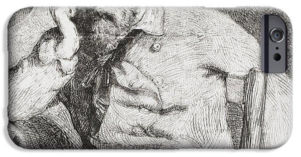 Figures iPhone Cases - Giuseppe Garibaldi, 1807 iPhone Case by Ken Welsh