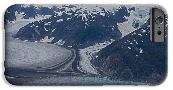 Norway iPhone Cases - Glacial Curves iPhone Case by Mike Reid