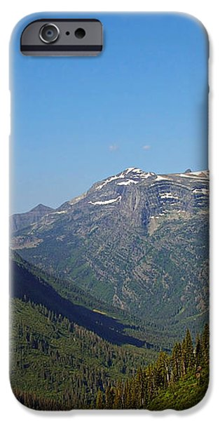 Glacier National Park MT - View from Going to the Sun Road iPhone Case by Christine Till