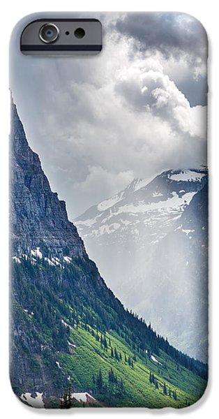 Glacier iPhone Cases - Glacier Storm iPhone Case by Robert Bynum