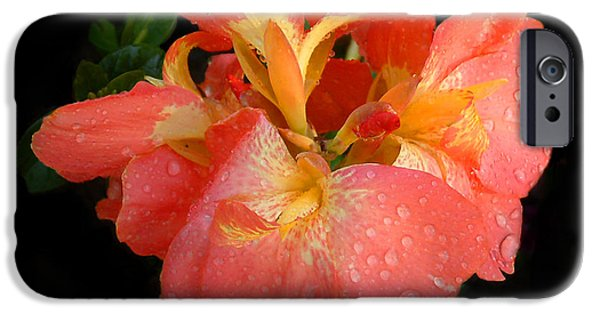 Floral Digital Art Digital Art iPhone Cases - Gladiolus bloom iPhone Case by TN Fairey