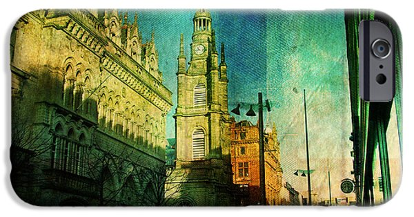 Buildings Mixed Media iPhone Cases - Glaschu iPhone Case by Dorit Fuhg