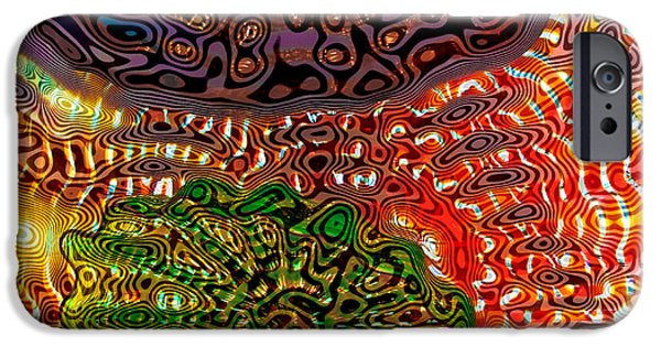 Abstract Expressionism iPhone Cases - Glass Abstract 10 iPhone Case by David Patterson