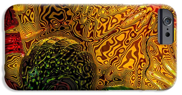 Abstract Expressionism iPhone Cases - Glass Abstract 5 iPhone Case by David Patterson