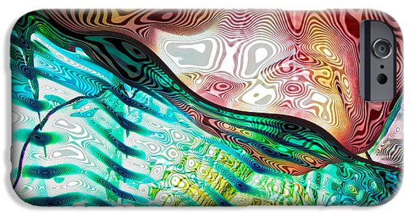 Abstract Expressionism iPhone Cases - Glass Abstract 7 iPhone Case by David Patterson