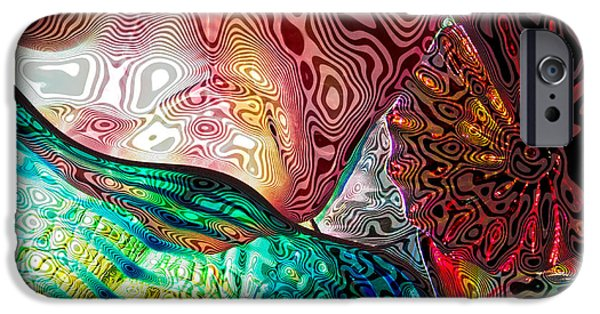 Abstract Expressionism iPhone Cases - Glass Abstract 9 iPhone Case by David Patterson