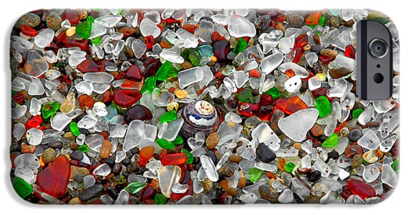 Christine Till iPhone Cases - Glass Beach Fort Bragg Mendocino Coast iPhone Case by Christine Till