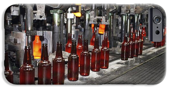 Production Line iPhone Cases - Glass Bottle Production Line iPhone Case by Ria Novosti