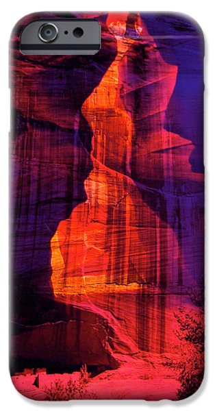 Landscapes Glass iPhone Cases - Glass Canyon iPhone Case by Mykel Davis