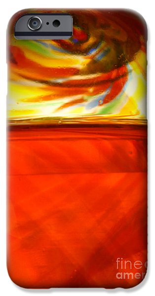 Colorful Abstract iPhone Cases - Glass Eye painting iPhone Case by Larry Weingartner