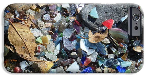 Stone Glass Art iPhone Cases - Glass Pebbles 2 iPhone Case by Tamara Kulish