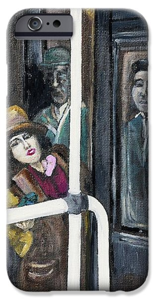 Gloria Swanson in Subway Scene From Manhandled iPhone Case by Reb Frost