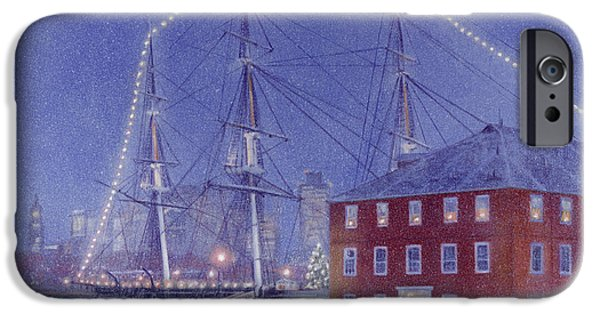 Constitution Paintings iPhone Cases - Glory at Eventide iPhone Case by Candace Lovely
