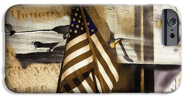 Old Glory Mixed Media iPhone Cases - Glory iPhone Case by Bob Salo