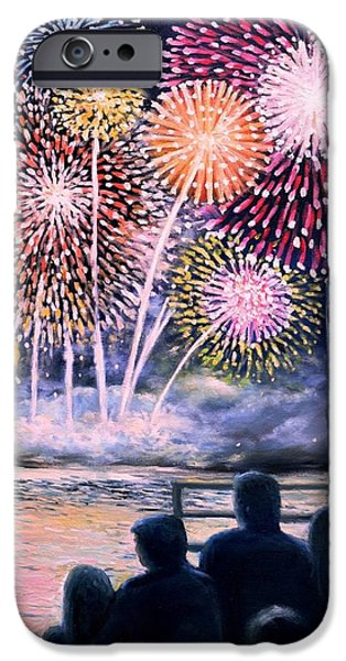 July iPhone Cases - Gloucester Fireworks  iPhone Case by Eileen Patten Oliver