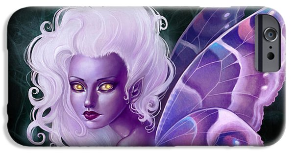 Fairies iPhone Cases - Glow in the Dark iPhone Case by Caroline Jamhour