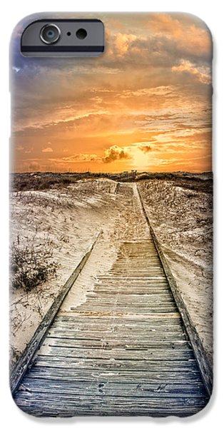 Sanddunes iPhone Cases - Glow on the Dunes iPhone Case by Debra and Dave Vanderlaan