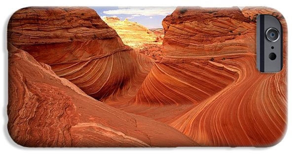 The Plateaus iPhone Cases - Glowing Butte At The Wave iPhone Case by Adam Jewell