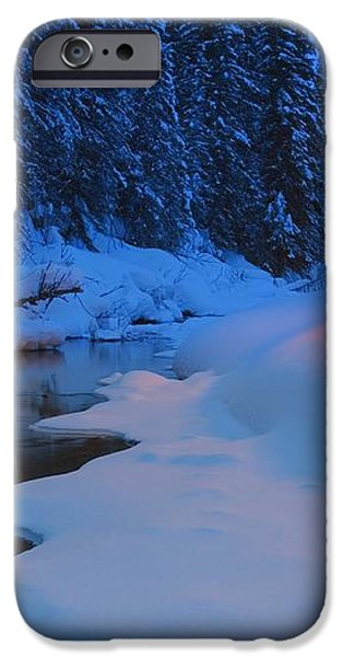 Glowing Christmas Tree By Mountain iPhone Case by Carson Ganci