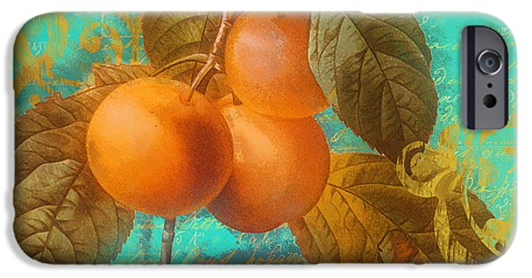 Pears iPhone Cases - Glowing Fruits Peaches iPhone Case by Mindy Sommers