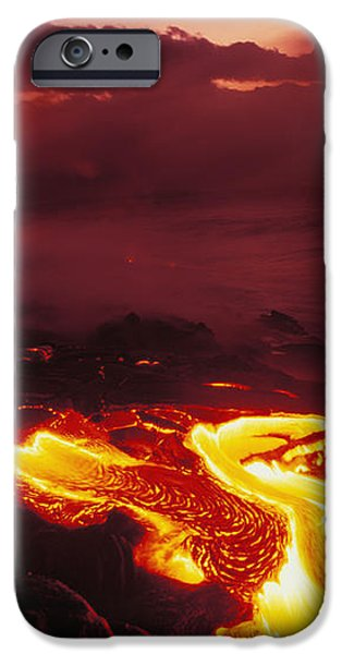 Glowing Lava Flow iPhone Case by Peter French - Printscapes
