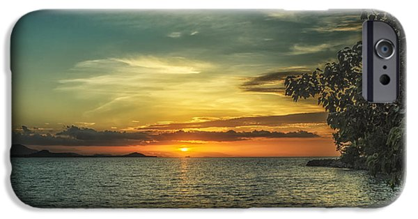Beach Landscape iPhone Cases - Glowing Sky iPhone Case by Michelle Meenawong