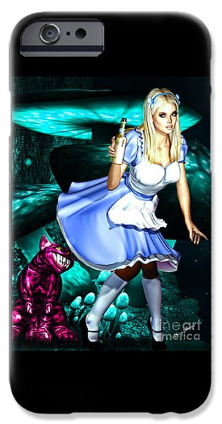 Alice In Wonderland iPhone Cases - Go Ask Alice iPhone Case by Alicia Hollinger