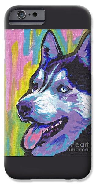 Husky iPhone Cases - Go Husky iPhone Case by Lea