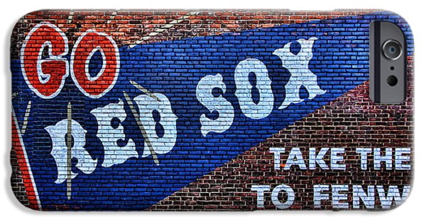 Boston Red Sox iPhone Cases - Go Red Sox iPhone Case by Stephen Stookey