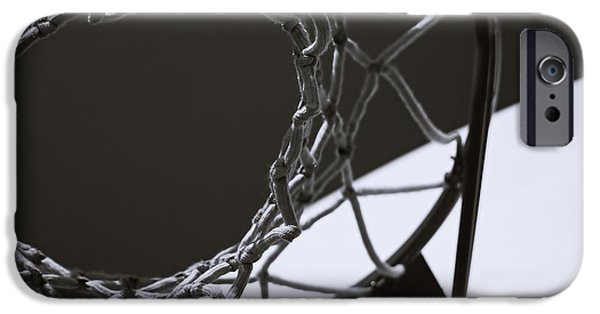 Basketball Abstract iPhone Cases - Goal iPhone Case by Steven Milner