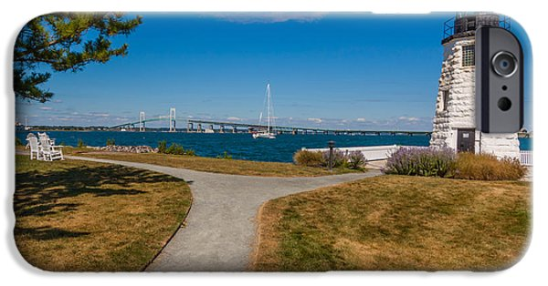 New England Lighthouse iPhone Cases - Goat Island Light iPhone Case by Brian MacLean