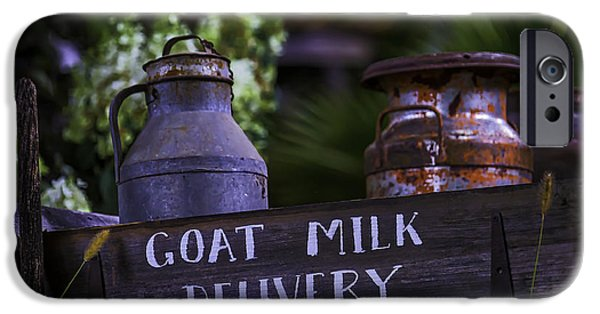 Delivery Truck iPhone Cases - Goat Milk Delivery iPhone Case by Garry Gay