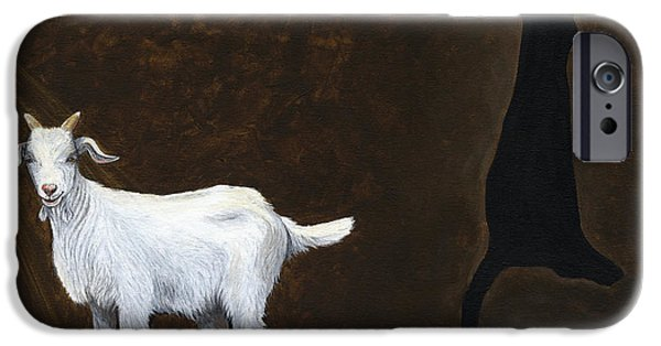 Advocacy iPhone Cases - Goat Shadow iPhone Case by Twyla Francois