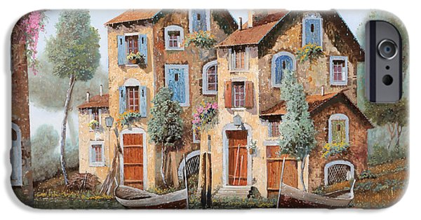 Tear Paintings iPhone Cases - Gocce Sulle Case iPhone Case by Guido Borelli