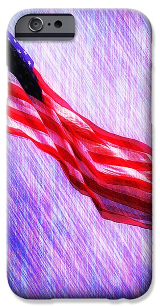 Old Glory Digital iPhone Cases - God Bless America iPhone Case by Bill Cannon