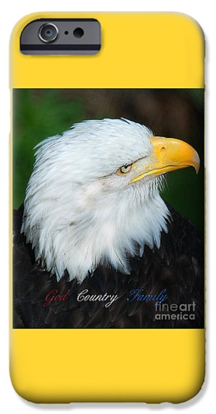 Patriots iPhone Cases - God Country Family iPhone Case by Diane E Berry