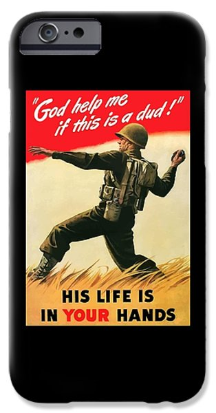 Combat iPhone Cases - God Help Me If This Is A Dud iPhone Case by War Is Hell Store