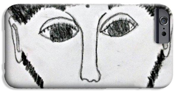 War Pastels iPhone Cases - God of War iPhone Case by Karyn Bonti