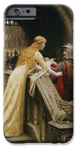 Pre-raphaelites iPhone Cases - God Speed iPhone Case by Edmund Blair Leighton