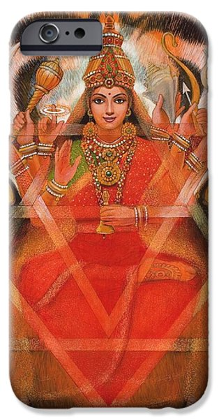Goddess Durga iPhone Case by Sue Halstenberg