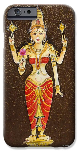 Hindu Goddess iPhone Cases - Goddess Lakhmi iPhone Case by Namitaa Pradeep