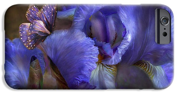 Purple Art iPhone Cases - Goddess Of Mystery iPhone Case by Carol Cavalaris
