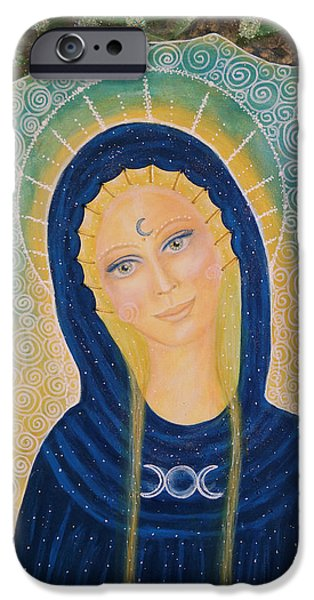 Tripple iPhone Cases - Goddess of the divine feminine iPhone Case by Lila Violet