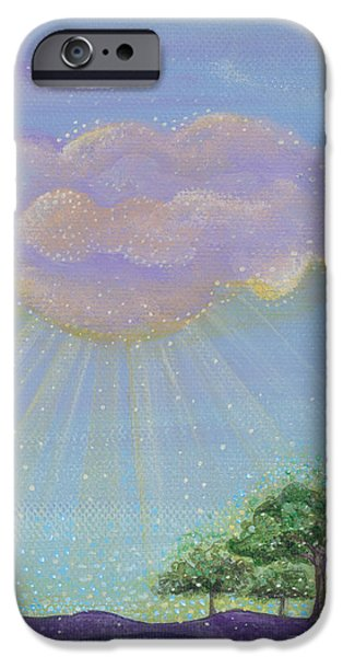 Sun Rays Paintings iPhone Cases - Gods Grace iPhone Case by Tanielle Childers