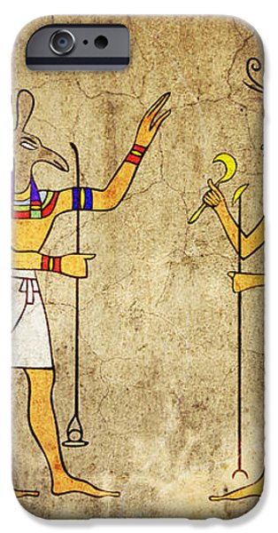 Gods of Ancient Egypt iPhone Case by Michal Boubin