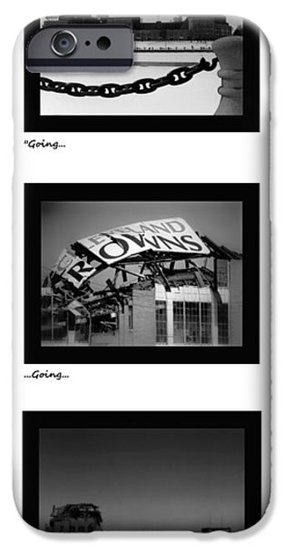 Cleveland iPhone Cases - Going Going Gone iPhone Case by Kenneth Krolikowski