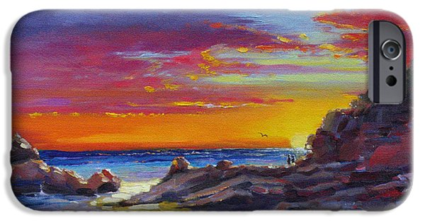 Recently Sold -  - Ocean Sunset iPhone Cases - Going Going Gone iPhone Case by Laura Lee Zanghetti