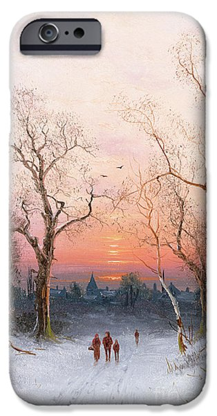 Crows iPhone Cases - Going Home iPhone Case by Nils Hans Christiansen