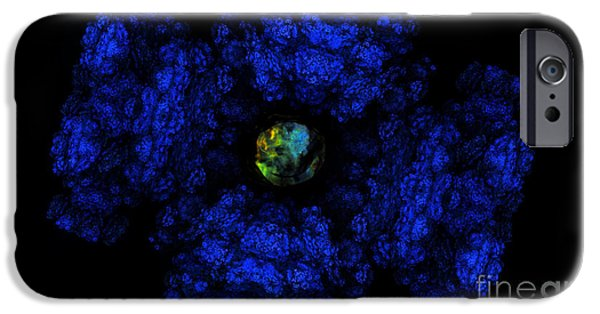 Abstract Digital Photographs iPhone Cases - Going Through the Blues Tunnel iPhone Case by Jan Tyler