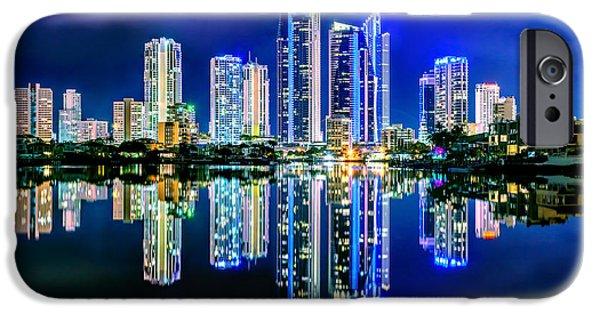 Vibrant iPhone Cases - Gold Coast Reflections iPhone Case by Az Jackson